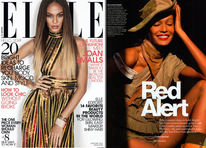 Joan Smalls latest fashion pictorials Elle Glamour