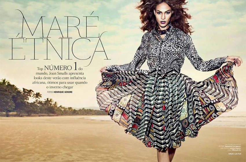 Joan Smalls Mare Etnica Vogue Brazil January 2013