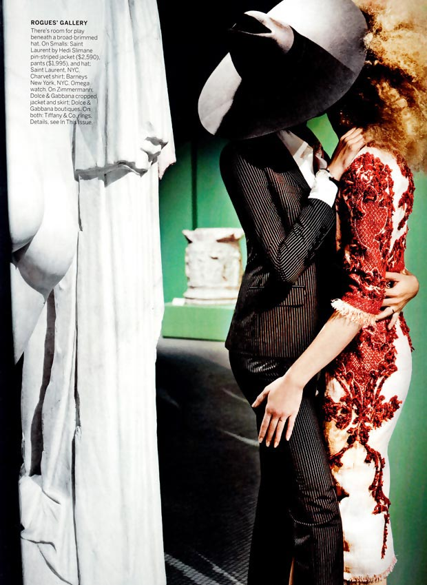 Joan Smalls Raquel Zimmermann kiss in Vogue