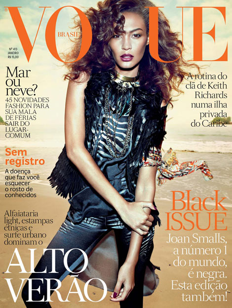 Joan Smalls Black Ethnic Vogue Brasil January 2013