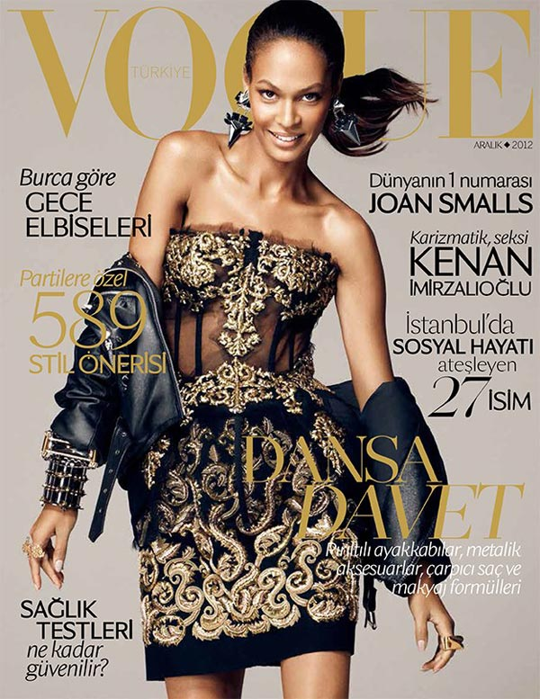 Joan Smalls Vogue Turkey December 2012 cover