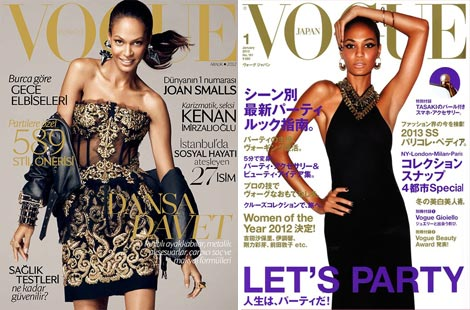 Joan Smalls Vogue Turkey Vogue Japan covers