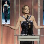Jodie Foster blue dress 2013 Golden Globes winner
