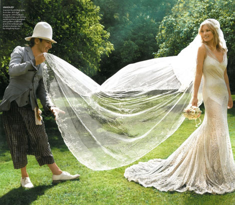 John Galliano at Kate Moss wedding