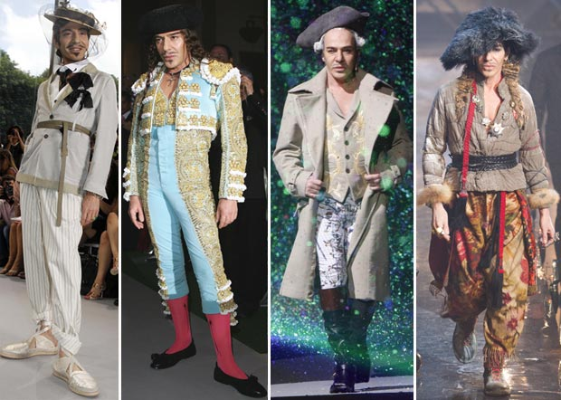 Johan Galliano flamboyant style costumes fashion show