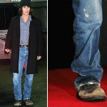 Johnny Depp boots distressed