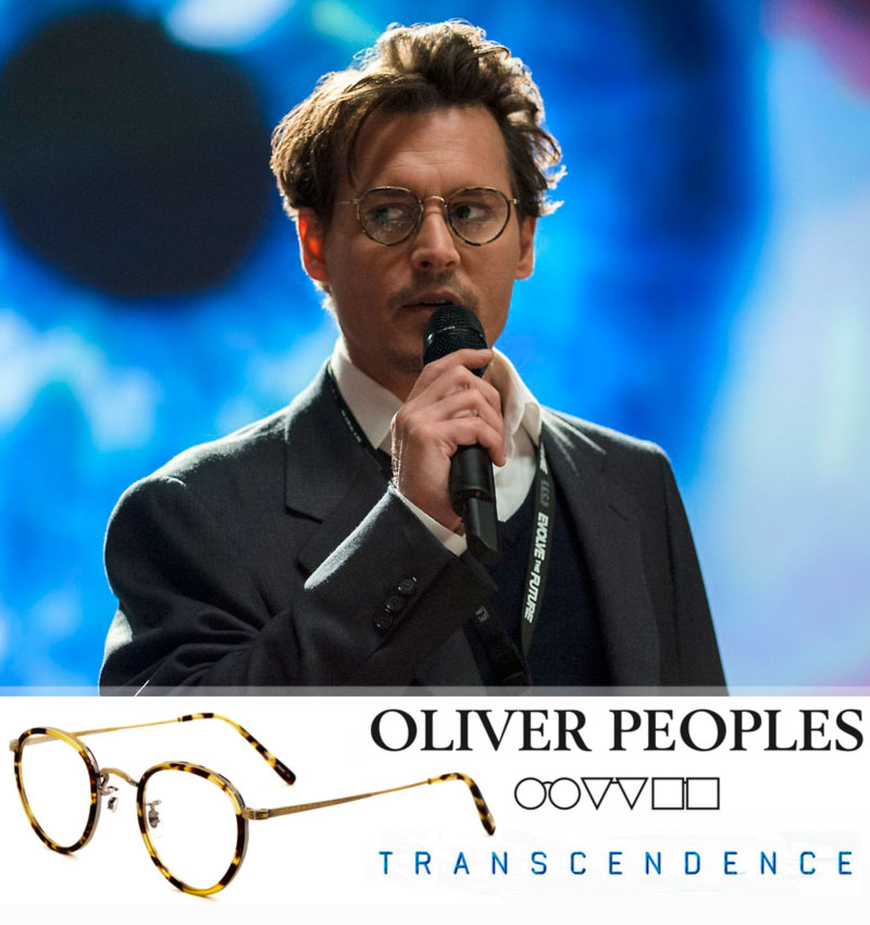 Johnny Depp eyeglasses Transcendence Oliver Peoples