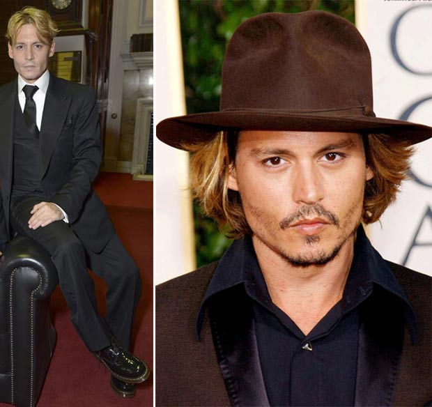 Johnny Depp hair color change