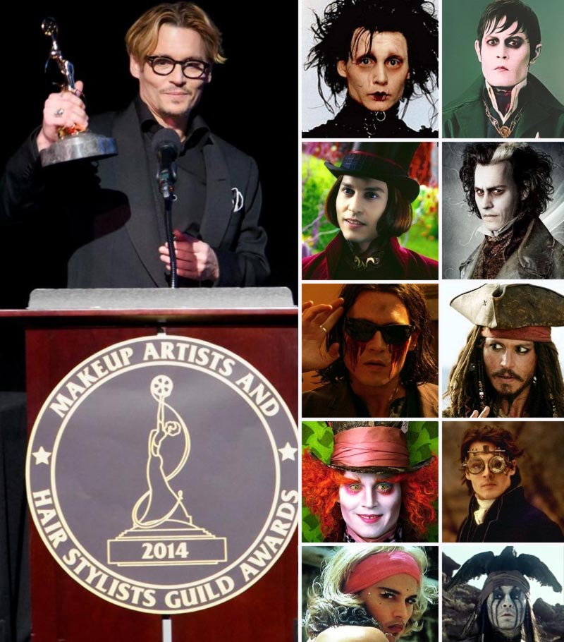 Johnny Depp roles makeover awarded
