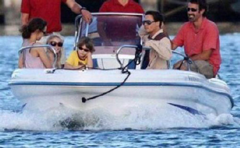 Johnny Depp Vanessa Paradis kids vacation