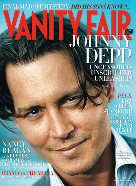 johnny Depp Vanity Fair Cover July 2009