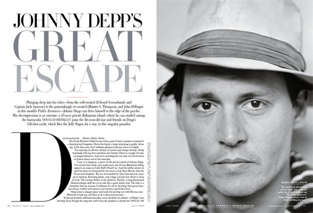 Johnny Depp Vanity Fair July 2009 2