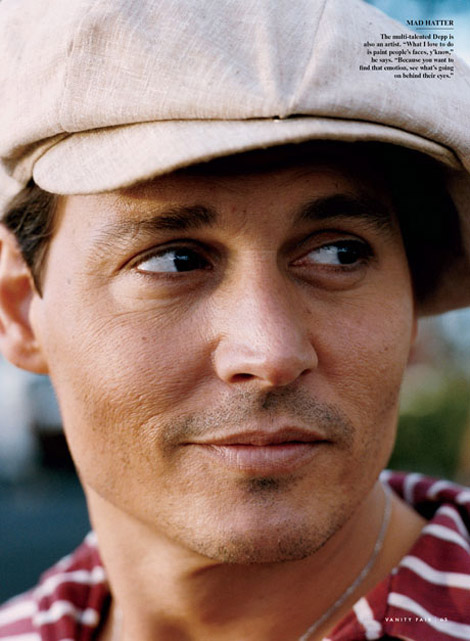 johnny Depp Vanity Fair July 2009