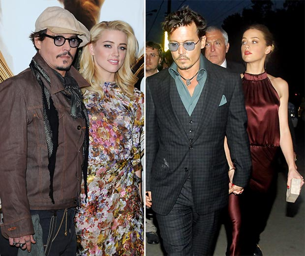Johnny Depp with new girlfriend Amber Heard