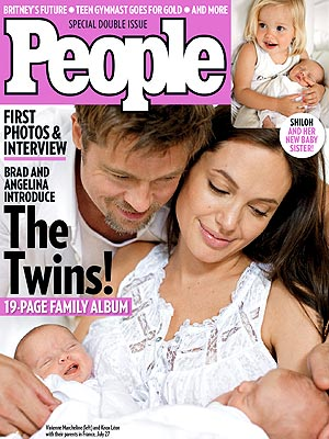 Jolie Pitt Twins People Magazine