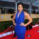 Jordin Sparks cobalt blue dress 2013 SAG Awards