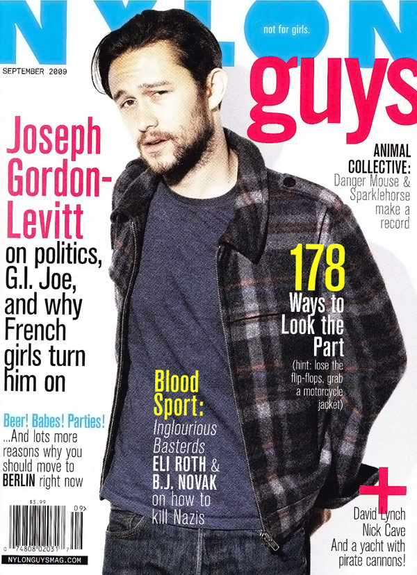 Joseph Gordon Levitt Nylon Guys September 2009 cover