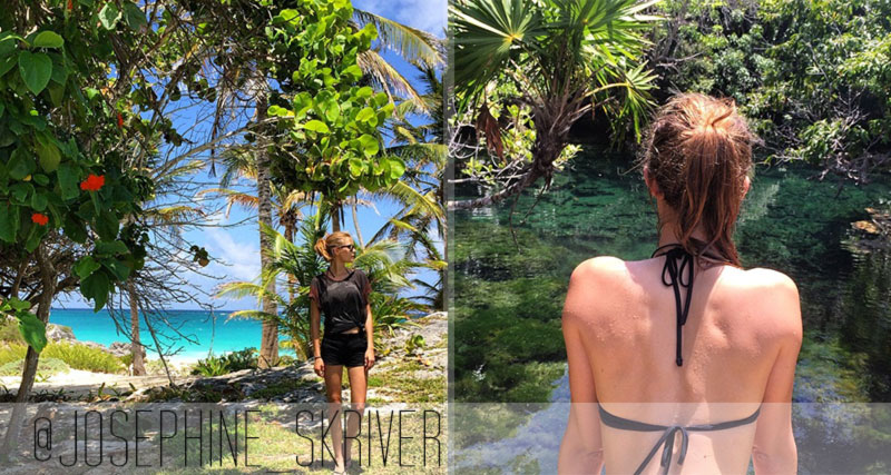 Josephine Skriver Mexico Tulun retreat Memorial Day