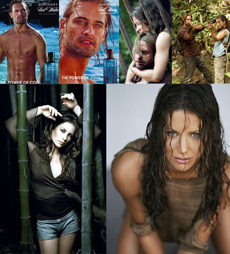 Josh Holloway and Evangeline Lilly for Davidoff Cool Water