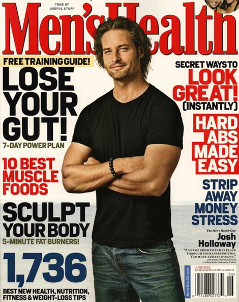 Josh Holloway Lost Sawyer Men s Health June 2010 cover