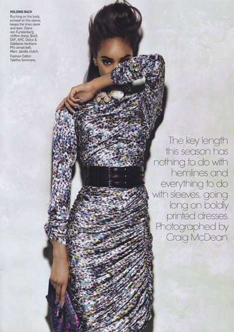 Jourdan Dunn Babes in Arms Vogue October 2009