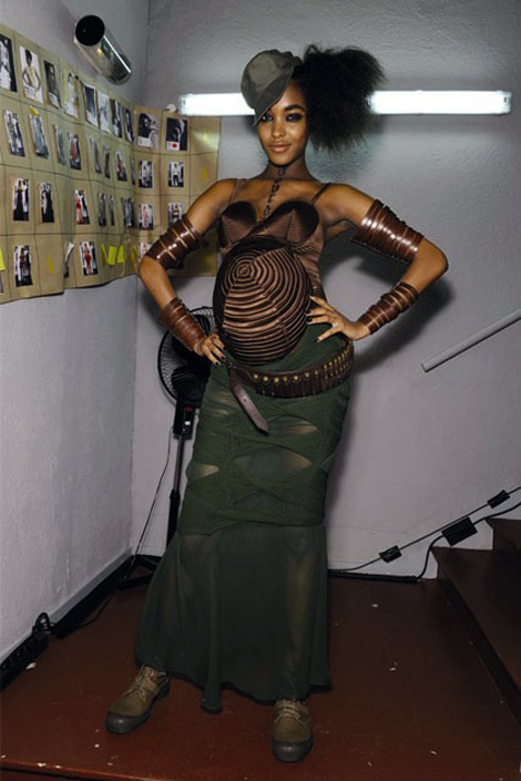 Jourdan Dunn Pregnant Catwalk For Jean Paul Gaultier