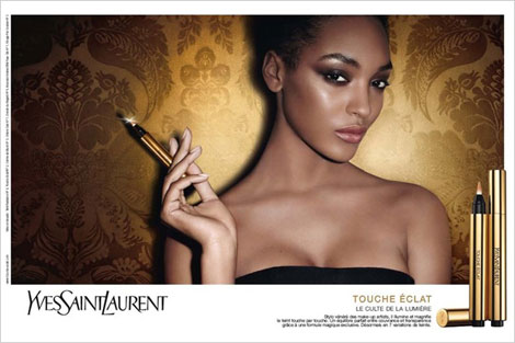 Jourdan Dunn's Yves Saint Laurent Touche Eclat Ad