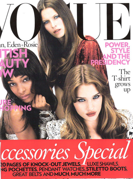Jourdan, Eden And Rosie Cover Vogue UK In November 2008