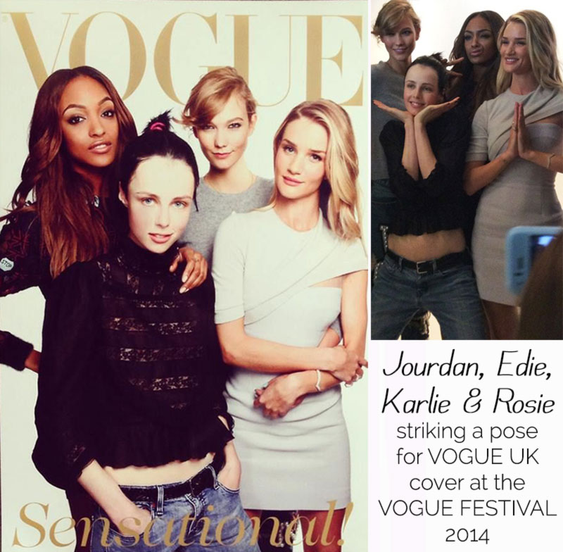 Jourdan Edie Karlie Rosie Vogue UK