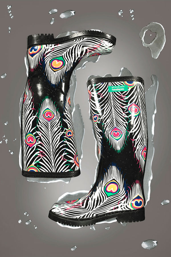 joyful rain boots by Matthew Williamson for Havaianas