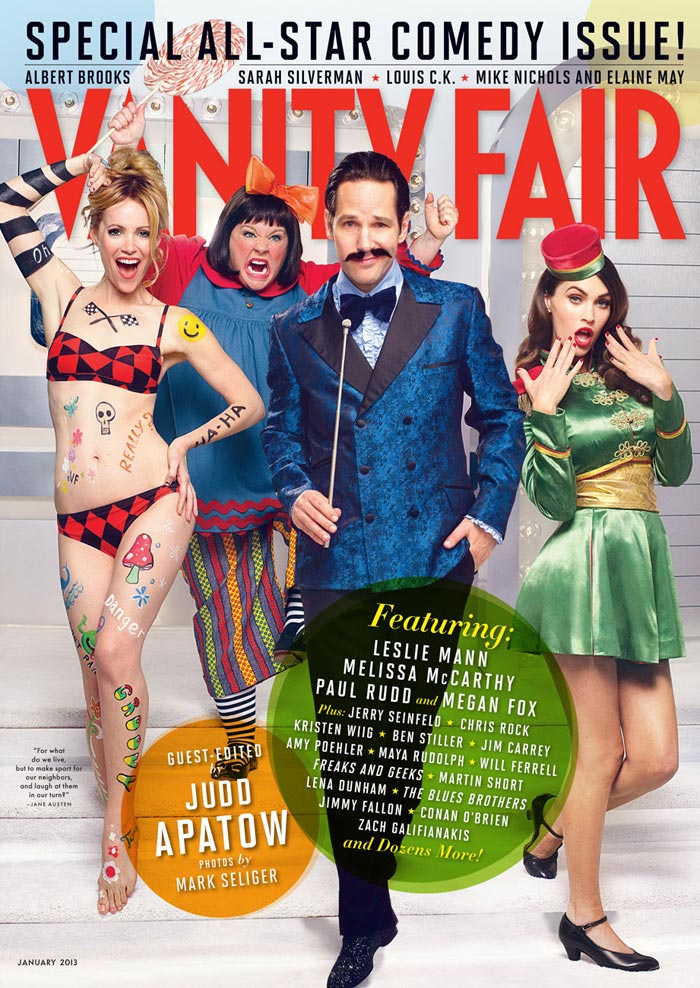 Judd Apatow guest edits Vanity Fair January 2013