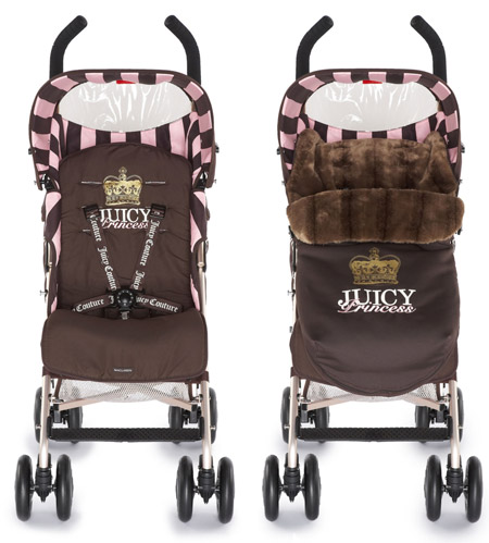 Juicy Couture MacLaren stroller footmuff