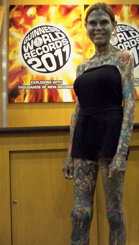 Julia Gnuse World s Most Tattooed Woman