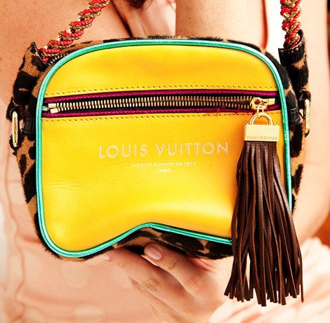 Julia Roitfeld Louis Vuitton yellow bag