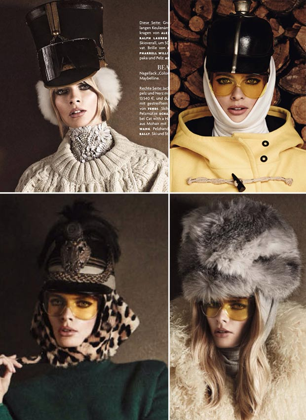 Julia Stegner hats Vogue Germany December 2013