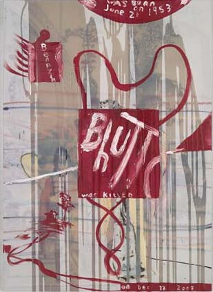 Julian Schnabel Red Painting