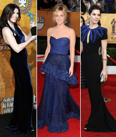 The Blue Dresses From 2010 SAG Awards