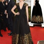 Julianna Margulies dress Golden Globes Andrew Gn