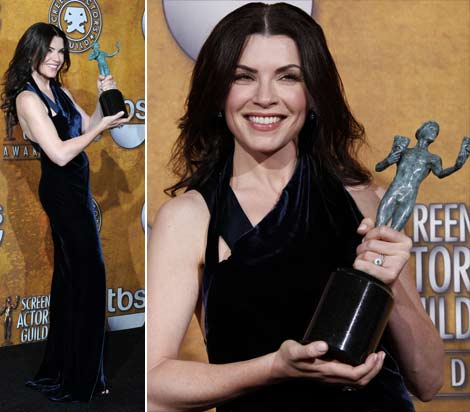 Julianna Margulies Narciso Rodriguez dress 2010 SAG