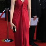 Julianna Margulies YSL bordeaux dress 2011 SAG awards 1