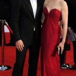 Julianna Margulies YSL bordeaux dress 2011 SAG awards 2