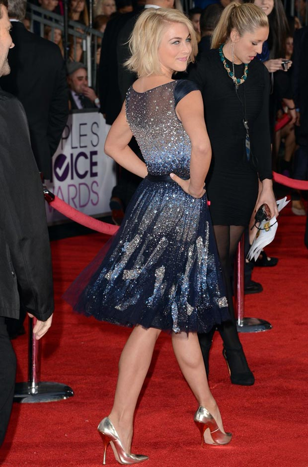 Julianne Hough's Galaxy Sequined Dress People's Choice Awards 2013
