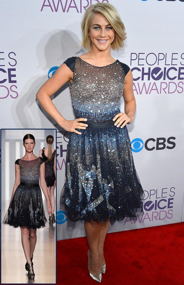Julianne Hough galaxy sequined Tony Ward dress People s Choice Awards 2013