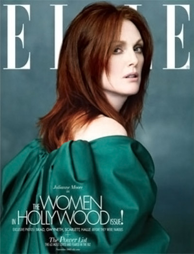 Julianne Moore Elle November 2009 cover