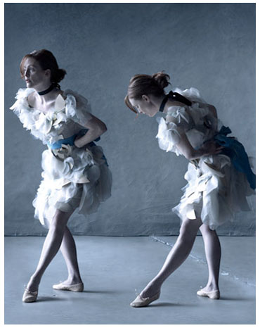 Julianne Moore Harper's Bazaar May 2008 by Peter Lindbergh Degas Dancers