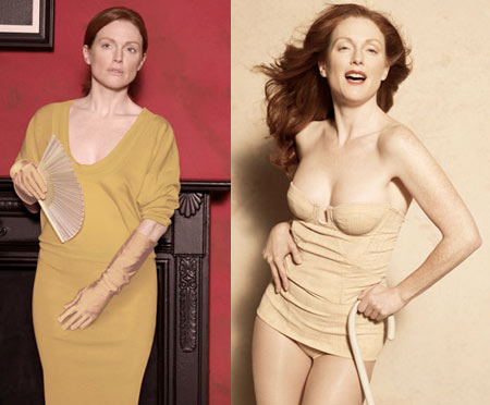 Julianne Moore Harper's Bazaar May 2008 by Peter Lindbergh