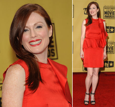 Julianne Moore Lanvin Dress Critics Choice Awards 2010
