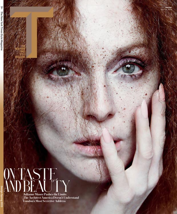 Julianne Moore NY Times T Magazine cover