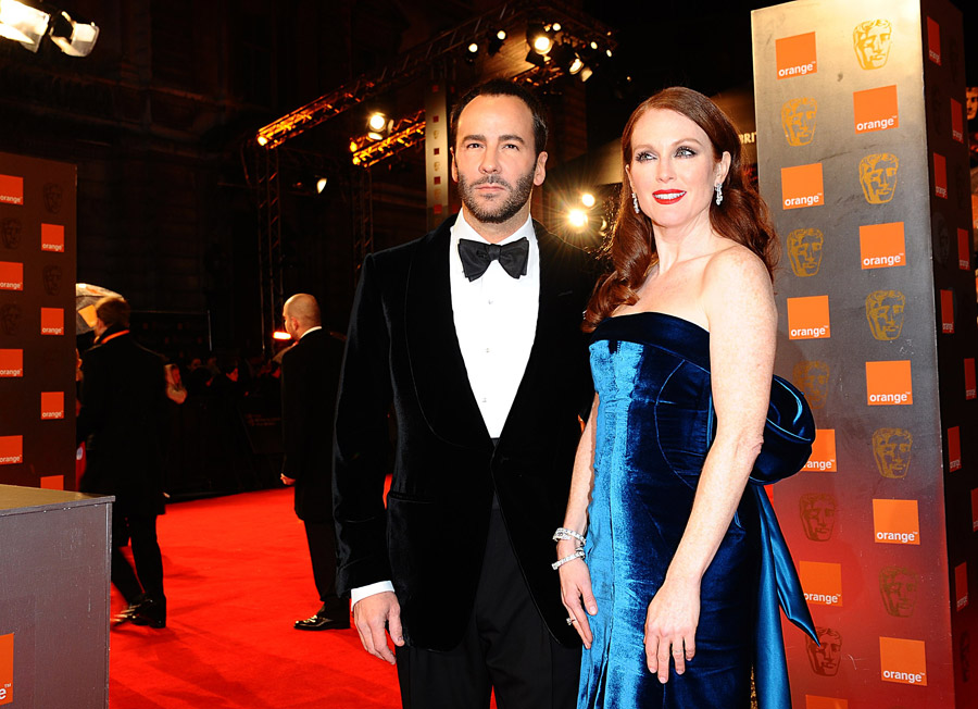 Julianne Moore Tom Ford Velvet dress 2011 Bafta Awards 2