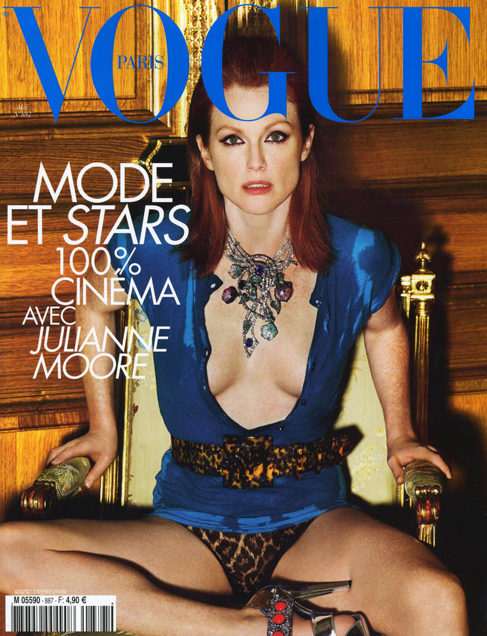 Julianne Moore Covers Vogue Paris May 2008